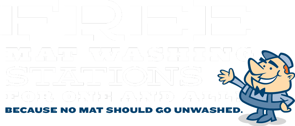 Free Mat Washing Stations for One and All!
